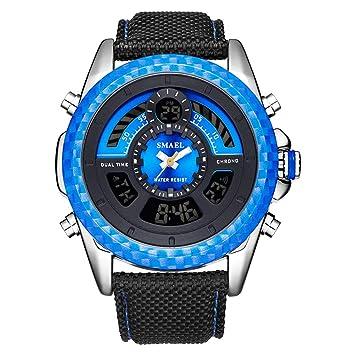 Blisfille Reloj Digital Resistente Al Agua Reloj Acero Pulsera Reloj Oro de Hombre Relojes Mujer Reloj