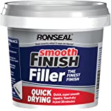 Ronseal 36553 Quick Drying Smooth Finish Ready Mix Wall Filler - White