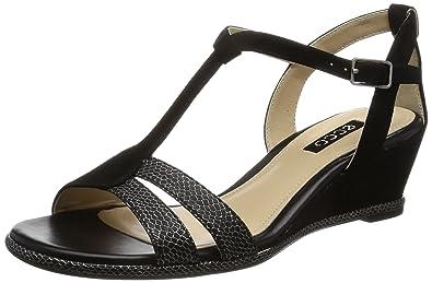 Ecco Touch45 Damen Plateau Sandalen mit Keilabsatz