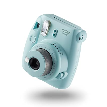 b820345cec5 Buy Fujifilm instax Mini 9 Camera with 10 Shots   1 frame - Ice Blue Online  at Low Price in India