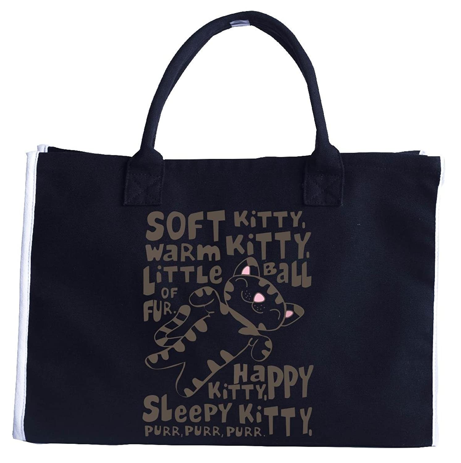 Soft Kitty Little Ball Of Fur Happy Kitty Cat T Shirt - Tote Bag