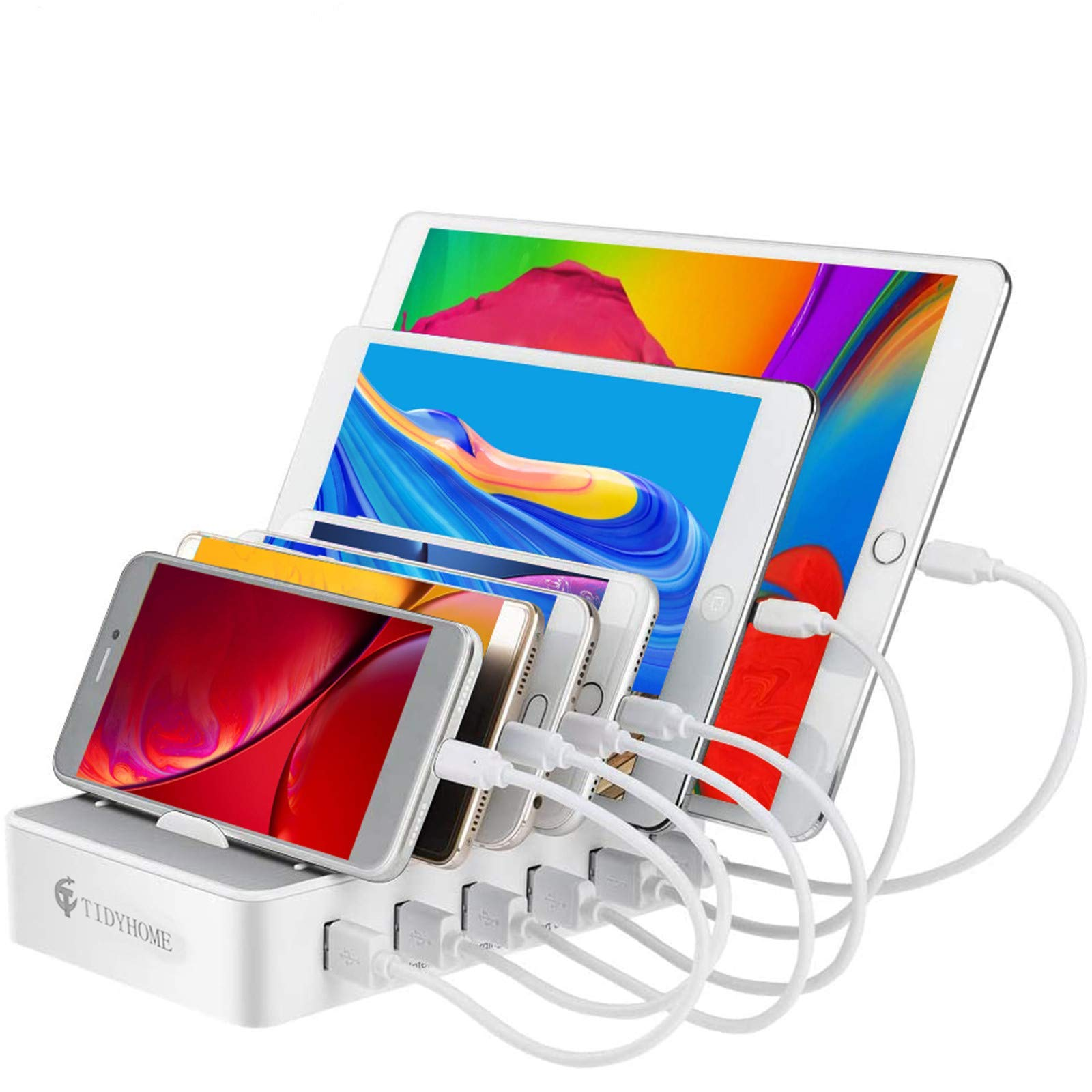 Charging Station for Multiple Devices 6 USB Fast Ports and 6 Mixed