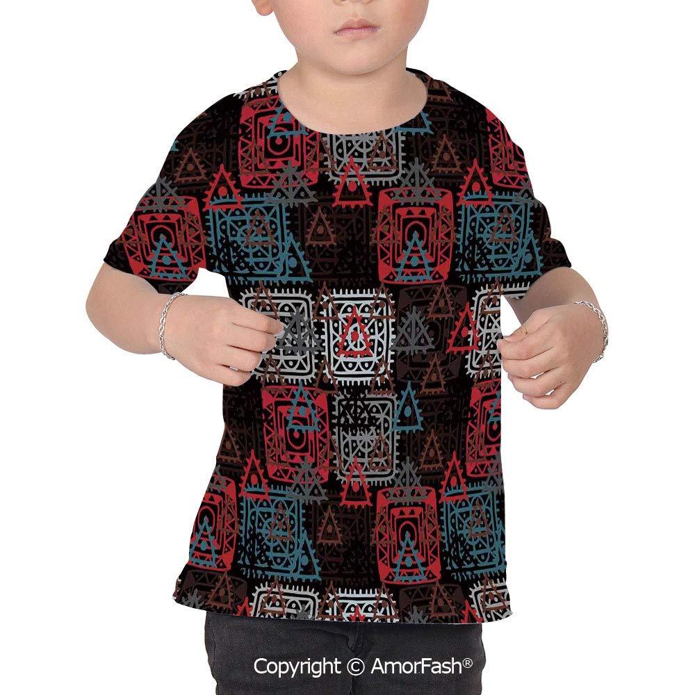 Batik Decor Original Printed Short Sleeve Shirt Size XS-2XL Big,Folkloric Color
