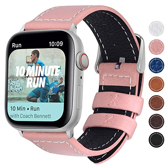 Fullmosa Compatible Apple Watch Bands 40mm 44mm,8 Colors Compatible with Apple Watch Series 4, Apple Watch Nike+ Series 4 Band iWatch Band, 40mm Dark ...