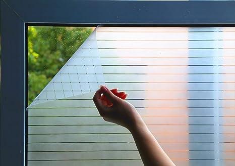 200CM Lifetree Fensterfolie Streifenfolie Dekofolie Sichtschutzfolie Funkeln Selbstklebend ohne Klebstoff Statisch Folie B/üro und Zuhause 44.5