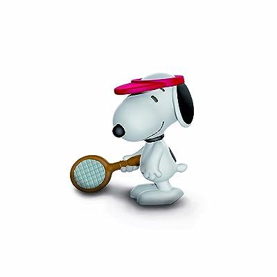 SCHLEICH Peanuts Tennis Player Snoopy Toy Figure: Schleich: Toys & Games