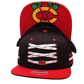 Zephyr Chicago Blackhawks Lacer Locker Room Snapback NHL Cap Schwarz