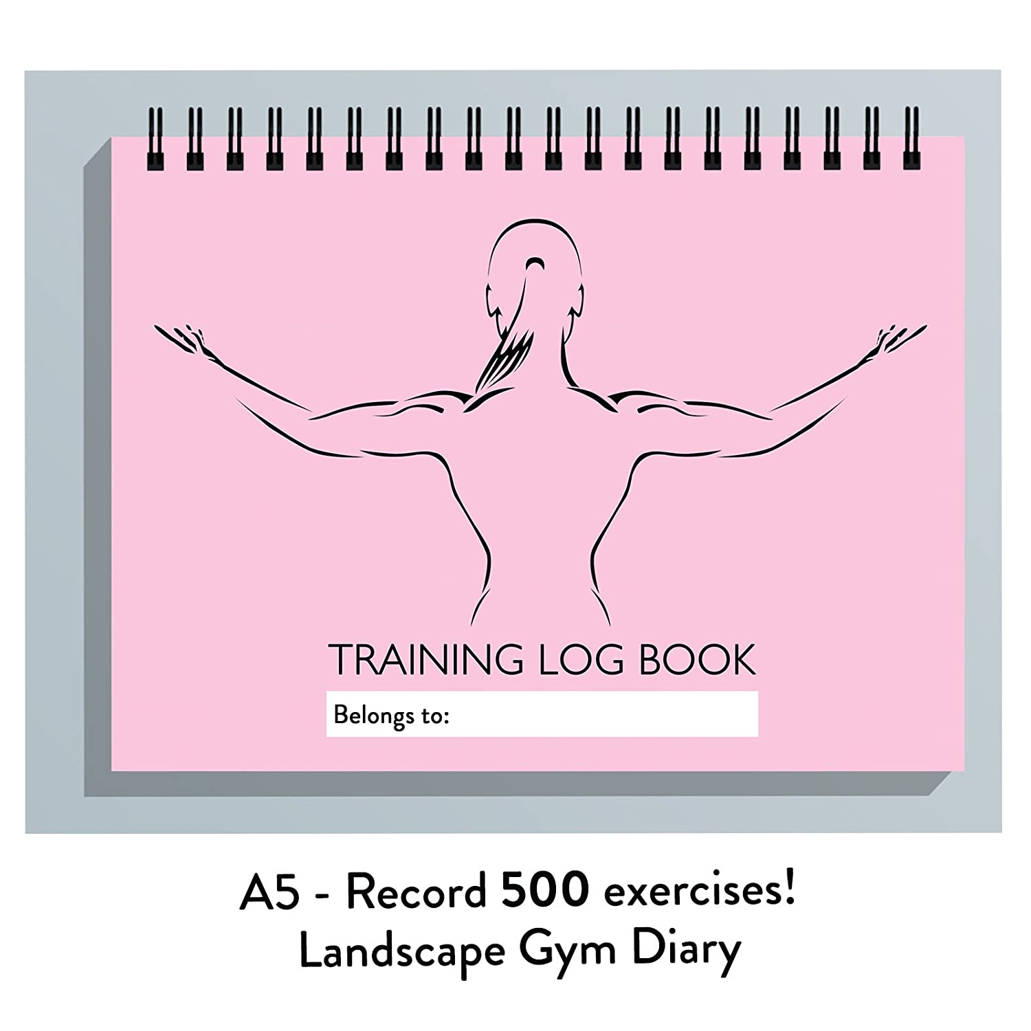 LADIES MEN GYM TRAINING DIARY,12 WEEK EXERCISE JOURNAL, LOG BOOK,REPS, WEIGHTS (PINK LADY) The Calorie Club