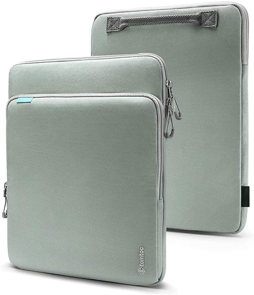 tomtoc Laptop Tablet Sleeve for 12 Inch MacBook Retina Display A1534, 10.9-inch iPad Air 4 | 11 iPad Pro with Magic/Smart Keyboard Folio or Logitech Slim Folio Pro Case, Organized Accessories Pocket