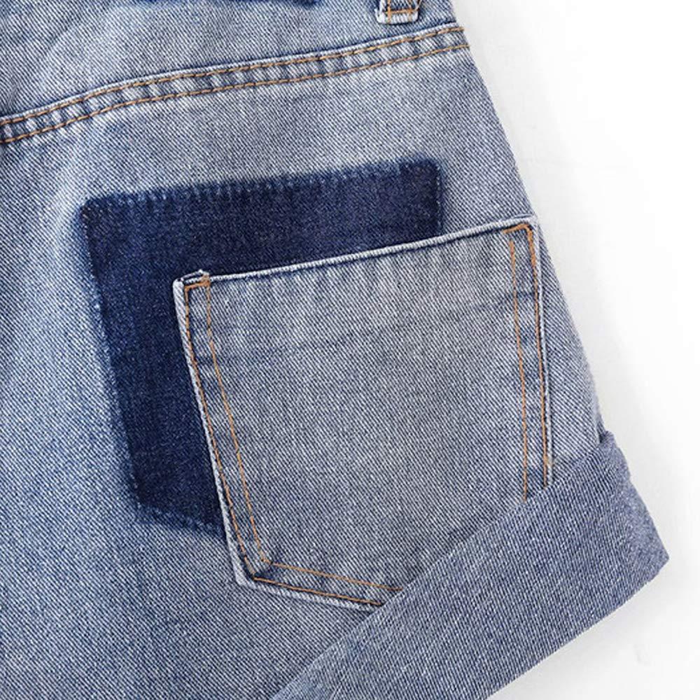 Vintage High Waist Denim Shorts Women Slim Casual Jeans Shorts Street Wear