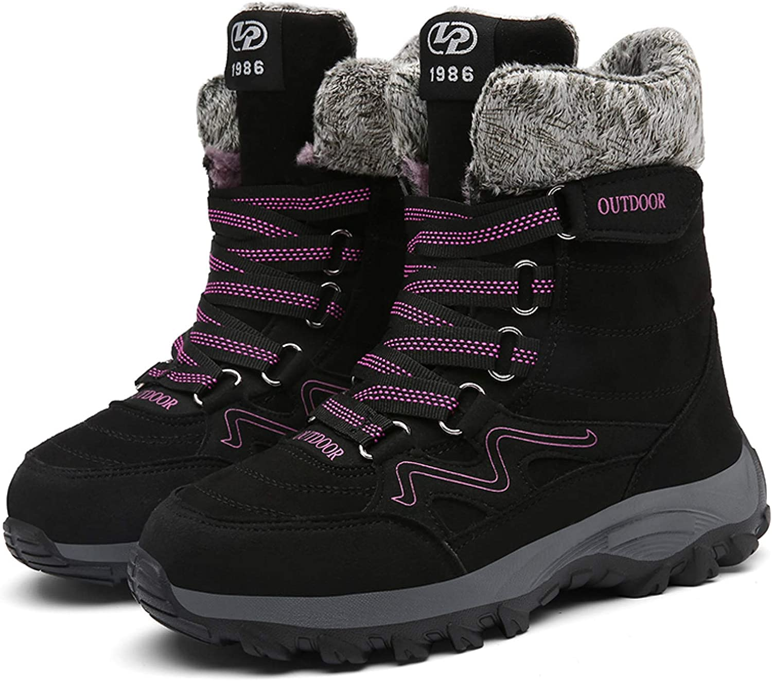 MENGOU Womens Outdoor Hiking Boots