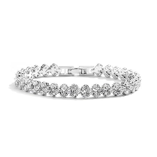 """Amazon Mariell 6 3 8"""" CZ Wedding Bridal or Prom Tennis"""