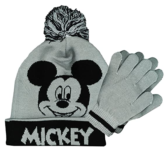 164ab57df Amazon.com: Mickey Mouse Boys Winter Hat & Gloves Set (Boys / Ages 4 ...