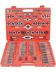 CCLIFE Juego de herramientas para roscar de 110 piezas machos de roscar M2-M18