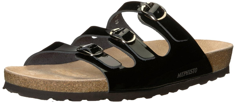 Black Patent Mephisto Womens Nolene Slide Sandal