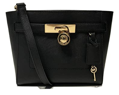 157d31875306 MICHAEL Michael Kors Hamilton Traveler TZ MD Messenger Crossbody (Black)