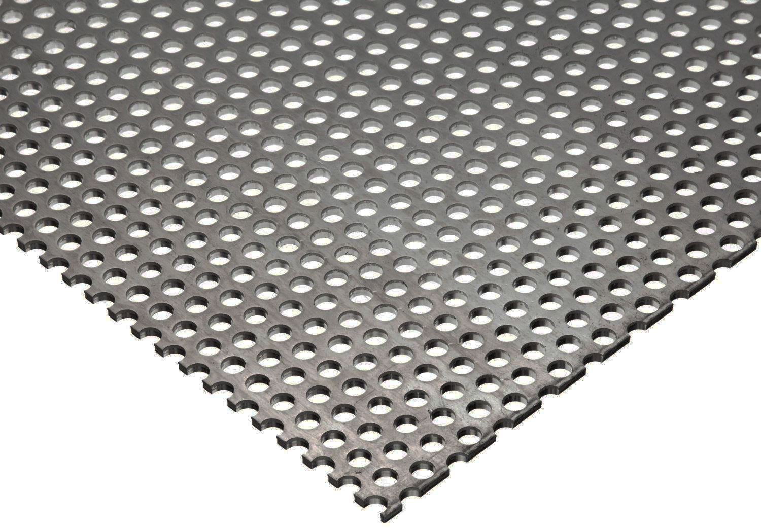 Online Metal Supply 304 Stainless Steel Perforated Sheet .035' (20 ga.) x 8' x 12' - 1/8 Holes