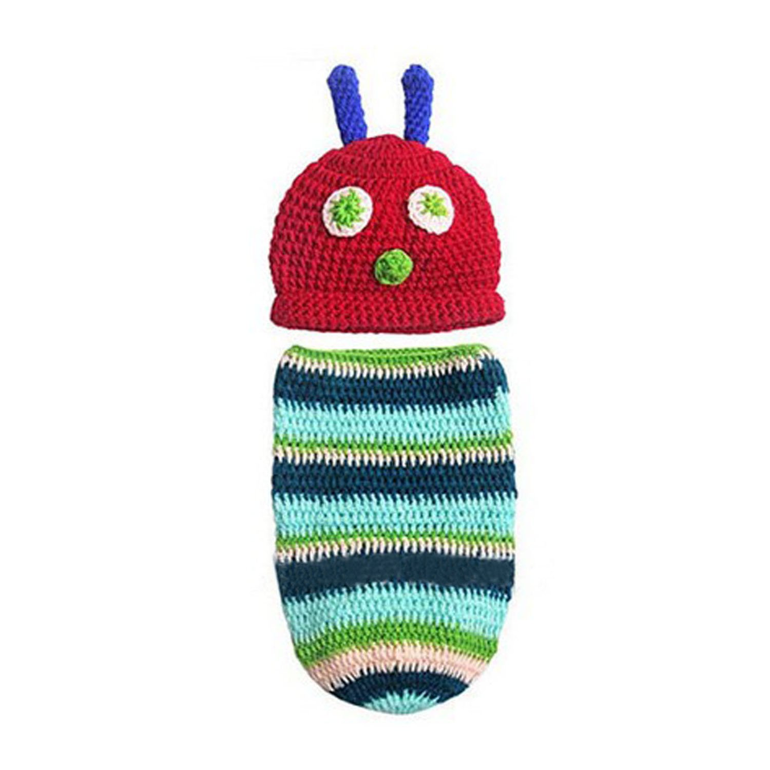Aniwon Baby Photo Prop Cartoon Caterpillar Crochet Photography Costume Outfits 15Z7L015Y8YT229LMG53A