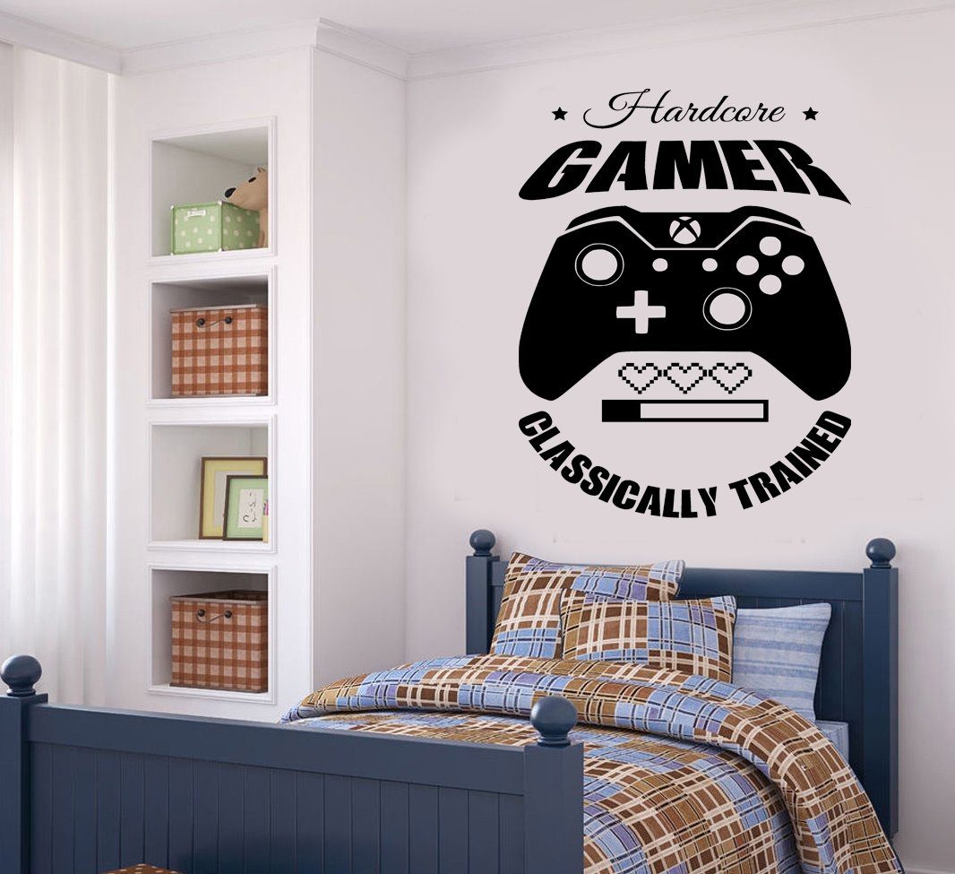 Gaming Quote Door//Wall art sticker//Decal Boys//Man Cave