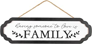 Family Sweet Home Wall Hanging Decor Sign - Having Someone to Love is Family Wood Sign for Hanging, 4.6