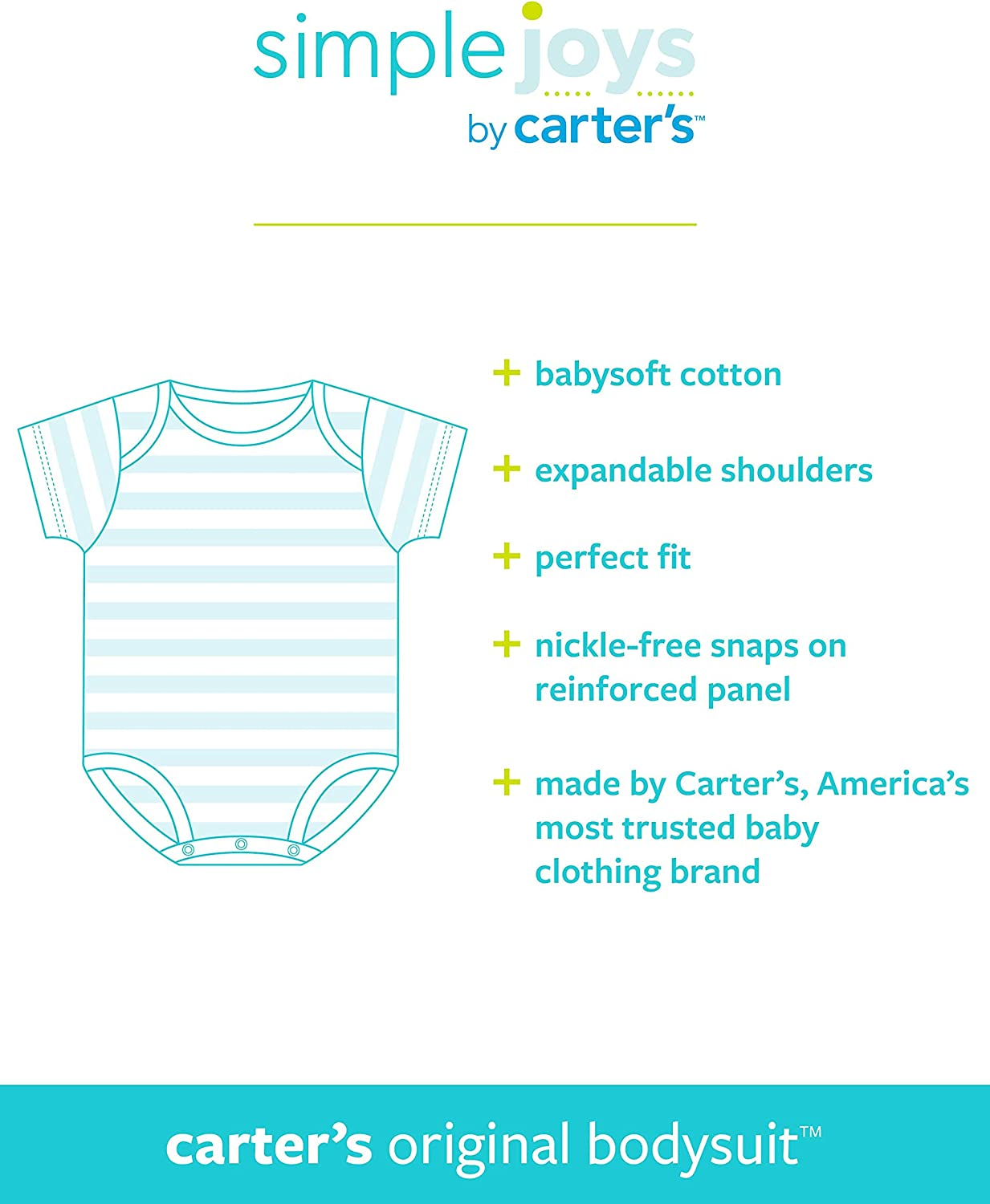 6er-Pack Simple Joys by Carters Baby Strampler kurz/ärmlig