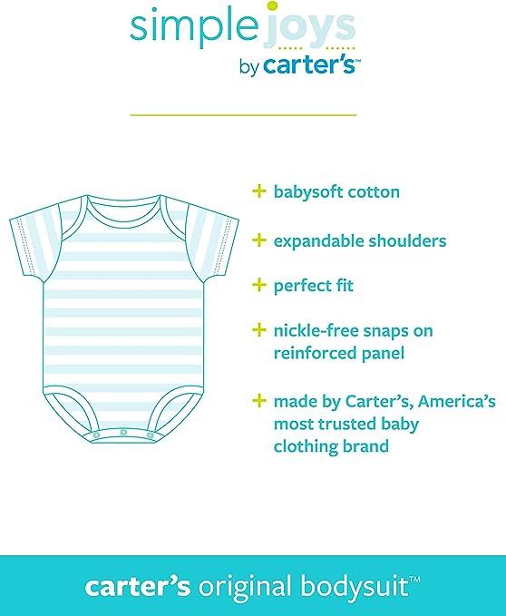 Simple Joys by Carters Baby 5 Unidades Body de Manga Corta para beb/é