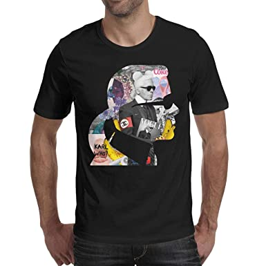 1634c800 Image Unavailable. Image not available for. Color: Dutte Lisa Short Sleeve  Tees O-Neck Cool-Karl-Lagerfeld- T-