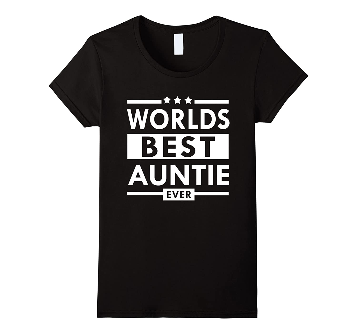 Worlds Best Auntie Ever T Shirt Family Gift for Aunt Women-Art