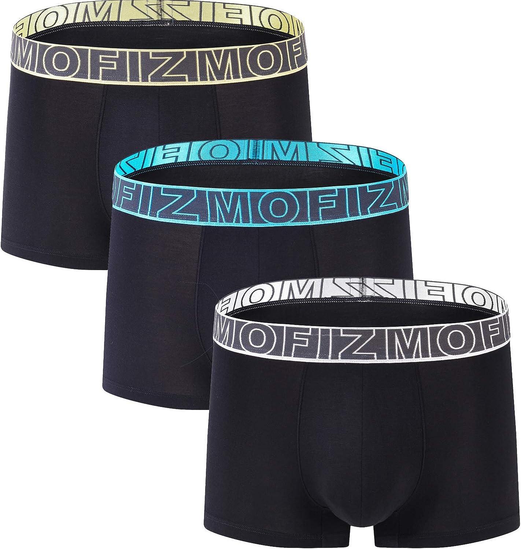 JINSHI Mens Underwear Short Leg Stretch Micro Modal Boxer Briefs