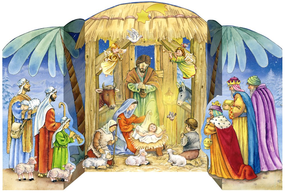 Jesus in the Manger Advent Calendar (Countdown to Christmas) Vermont Christmas Company AX-AY-ABHI-72021