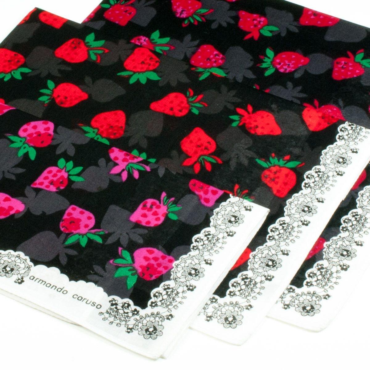 Fazzoletti «Fragaria» - 45cm x 45cm – 3 pezzi Merrysquare