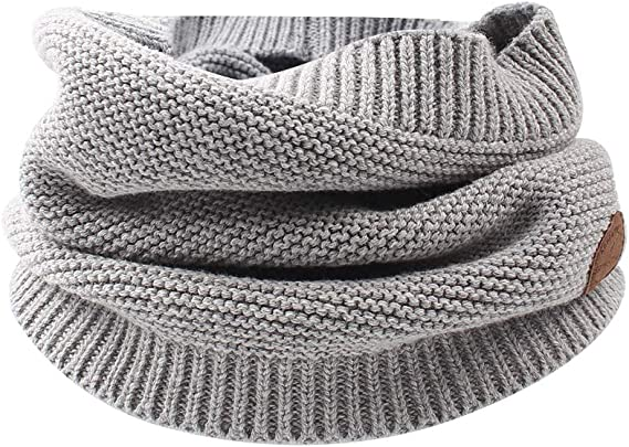 Cutegogo Baby Infinity Scarf Kids Boys Girls Knitted Winter Warm Circle Neckerchief for Spring
