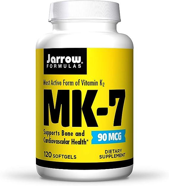 Jarrow Formulas Vitamin K2 Mk-7, 90Mcg - 120 Softgels 60 g