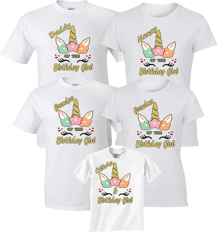 Unicorn Tee Unicorn Shirt Personalized Unicorn Birthday Shirt for Girl