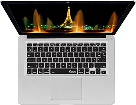 Edition Soft Silicone Keyboard Protective Film for MacBook Keyboard Cover for Pro Air13 15 Retina Display Azerty-White French U.S