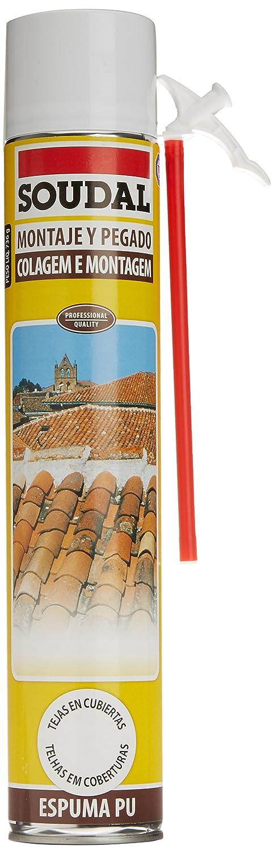Soudal M276615 - Espuma de poliuretano con canula tejas 750 ml: Amazon.es: Bricolaje y herramientas