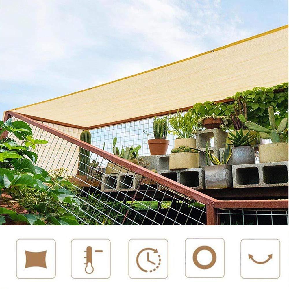 Telo Oscurante per La Sunblock Veranda da Giardino Quattro Corde per Quattro Metri Quadrati O pi/ù Rete da Giardino con Occhielli ZAZAP-1 Reti Ombreggianti al 90/% Inviare Cordoncino da 5 M