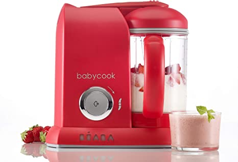 Beaba Babycook Solo 4 In 1 Baby Food Maker Red