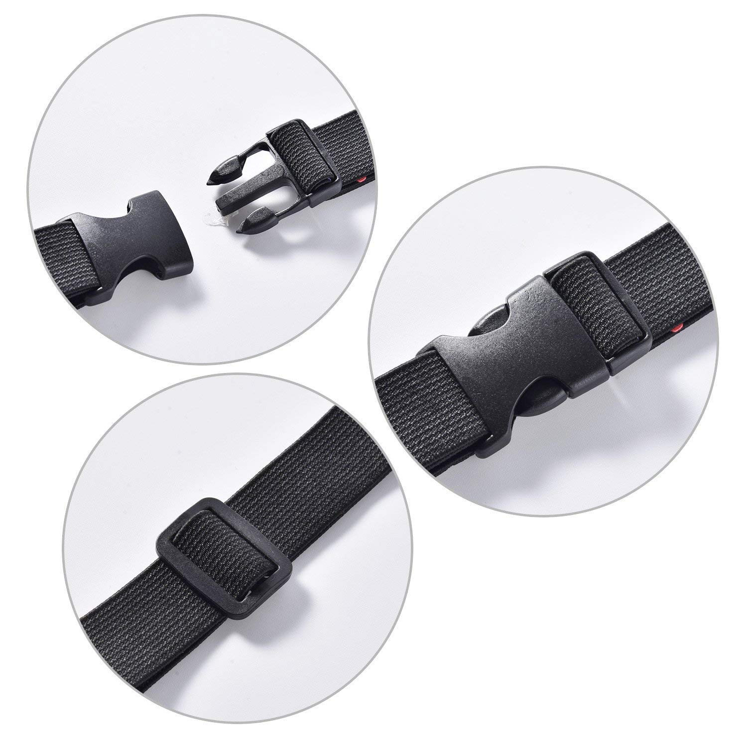 Trimming Shop 25mm x 67mm Plastic Black Buckle Adjustable Side Release Clasp and Triglide Slides for Webbing Straps 2pcs DIY Making Luggage Strap Pet Collar Tactical Bags