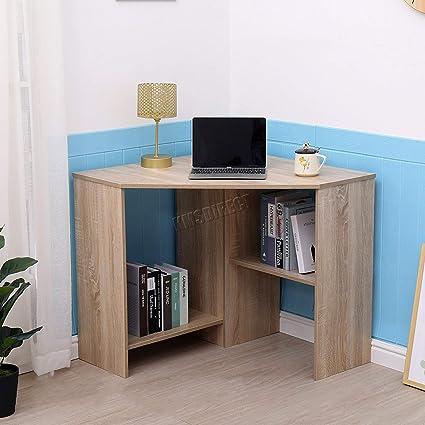 PC Computer Desk Wooden Corner Desktop Table Home Office Workstation Modern