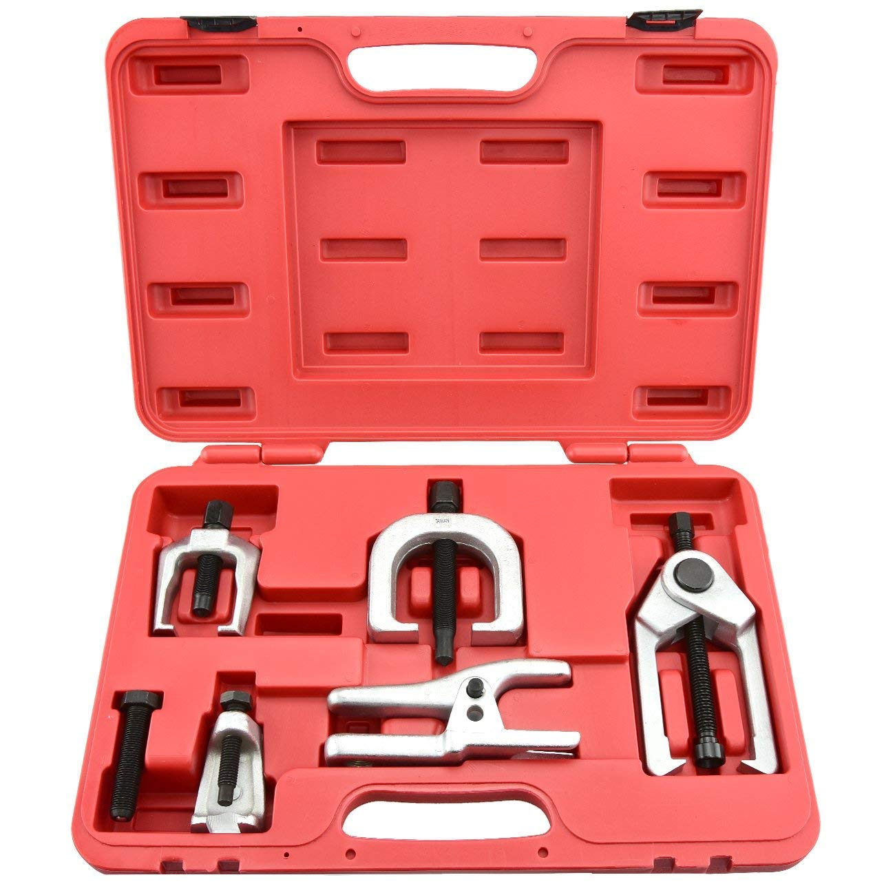 Ball Joint Separator Kit - Pitman Arm Puller Tool - Tie Rod End Remover - Front End Service Set – Outer Tie Rod Removal - 6 Piece by Jecr (Image #2)