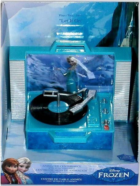 Frozen animado Centerpiece Elsa Tocadiscos adorno de Navidad ...