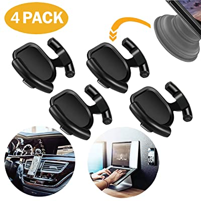 Compatible with Pop Socket Holder Car Mount for Cellphone Car Phone Holder Stand for Collapsible Grip/Socket Mount with Sticky Adhesive Used on Dashboard Home Desk Wall