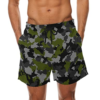 261ec7dd315c3 Image Unavailable. Image not available for. Colour: FFY Go Mens Beach Shorts,  Camouflage Printed Trunks Swim Short Quick Dry with Pockets for