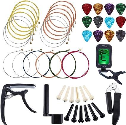 Auihiay - Juego de herramientas para guitarra con cuerdas para ...