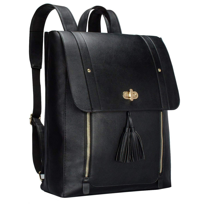 Bertasche Women's Leather Laptop Backpack