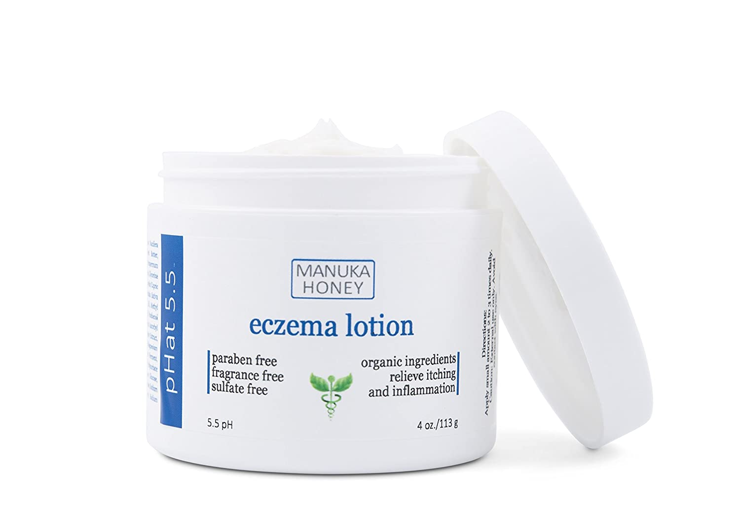 Eczema Cream Natural and Organic Treatment Therapy for Face, Hands, and Body by pHat 5.5 - Best Lotion for Relief of Itching from both Atopic and ...