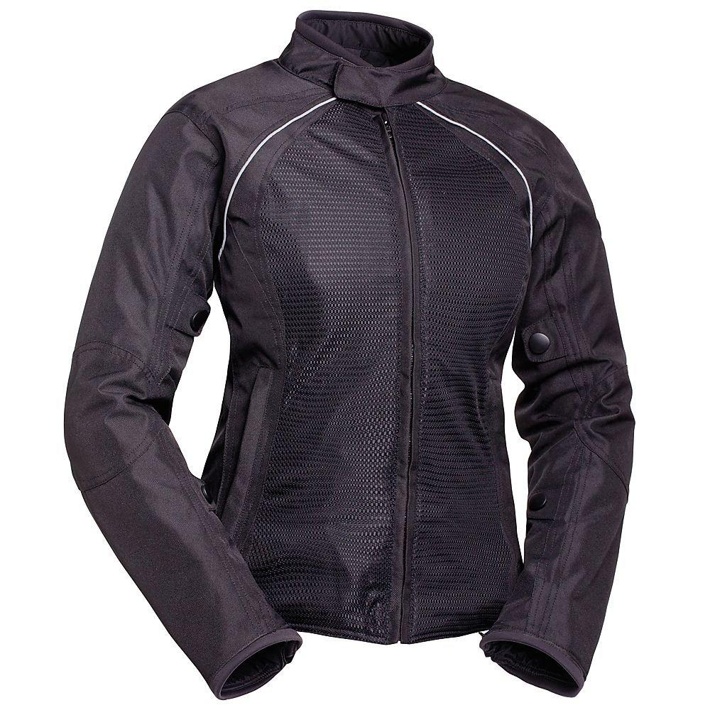 BILT Women's Calypso Mesh Motorcycle Jacket - SM, Black/Black