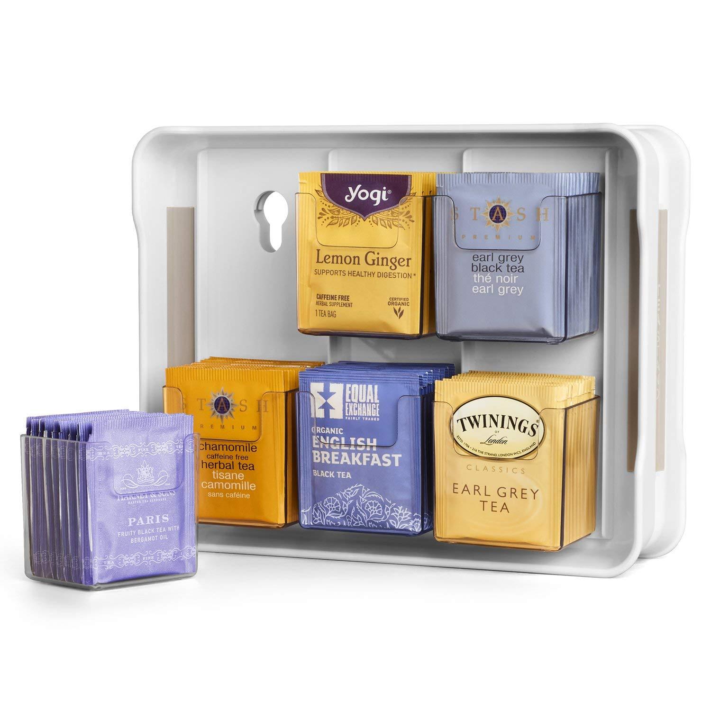 YouCopia 06121-31-WHT TeaStand 100+ Tea Bag Organizer, White (Renewed)