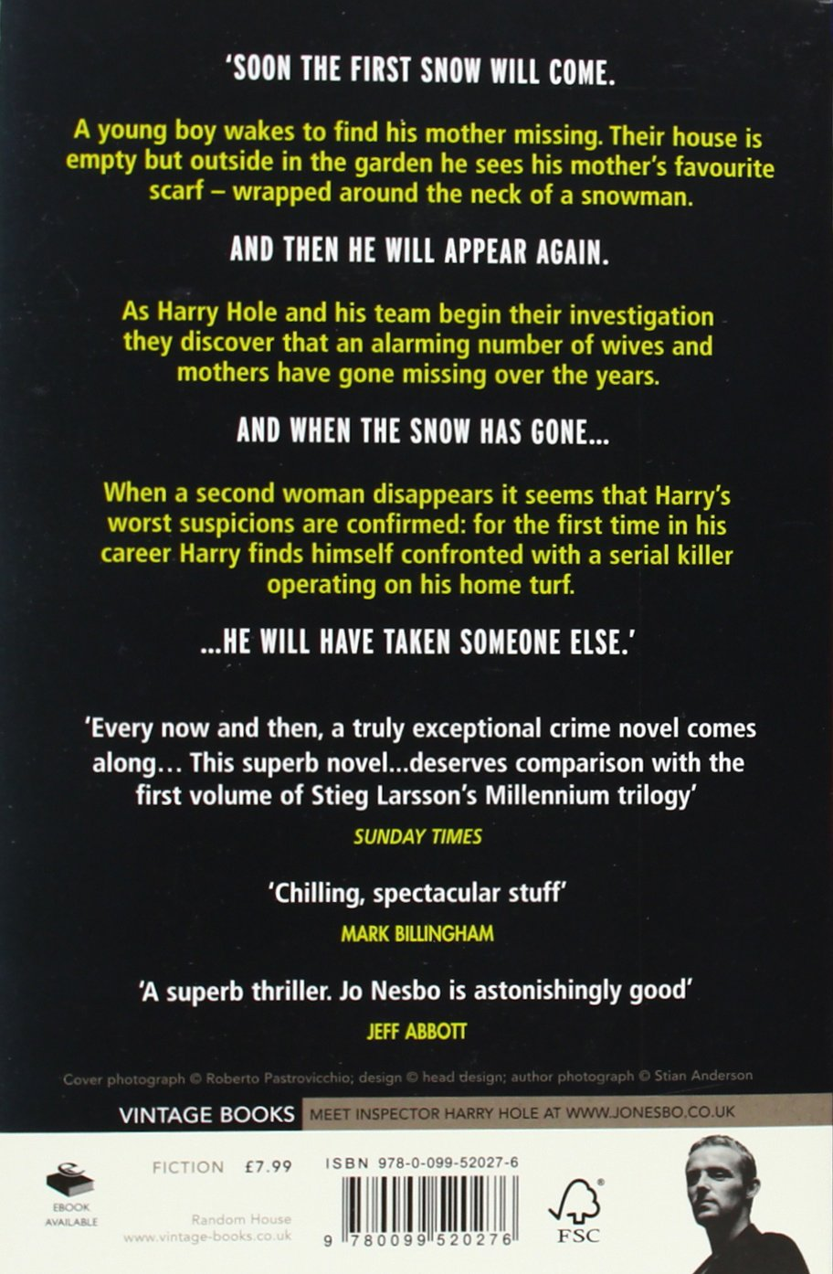 The Snowman (harry Hole Mysteries, No 7): Jo Nesbo: 9780099520276:  Amazon: Books